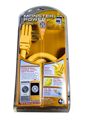 Monster Mp Pr400-4R Powerrange 400 - 50 Amp 4 Prong Power Cord For Electric Ranges front-165607
