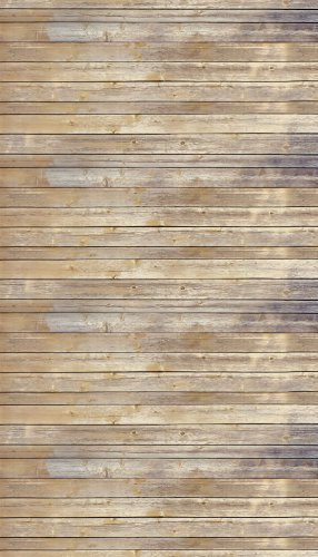 Ella Bella Photography Backdrop Paper, 4-feet by 12-feet, Vintage Wood