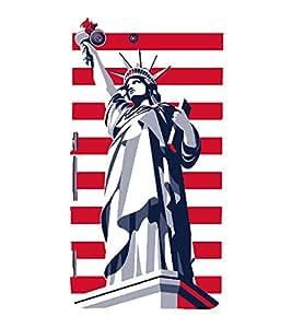 Statue of Liberty 3D Hard Polycarbonate Designer Back Case Cover for Sony Xperia M5 Dual E5633 E5643 E5663 :: Sony Xperia M5 E5603 E5606 E5653