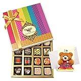 Impressive Treat Of Dark And White Truffles And Chocolate Box With Sorry Card - Chocholik Belgium Chocolates