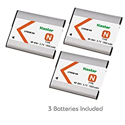 Kastar Battery (3-Pack) for NP-BN1, BC-CSN work with Sony Cyber-shot DSC-QX10,DSC-QX100,DSC-T99,DSC-T110,DSC-TF1,DSC-TX5,TX7,TX9,DSC-TX10,DSC-TX20,DSC-TX30,DSC-TX55,DSC-TX66,DSC-TX100V,DSC-TX200V,DSC-W310,DSC-W320,DSC-W330,DSC-W350,DSC-W360,DSC-W380,DSC-W