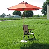 WOODEN UMBRELLA Sun shade cottage umbrella terracotta 2.1m round