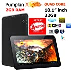 10.1 Android KITKAT 4.4.2 [QUAD Core] 32GB Tablet / 2GB RAM / Dual Cameras / Bluetooth / HDMI - PumpkinX