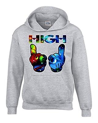 Shop4Ever® High Hands Space Hoodies Weed Smokers Hoodies