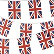 JnDee 100Percent Fabric British Union Jack Bunting 10 metres / 33 feet Long with 30 Flags
