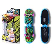 Remeehi Educational Mini Finger Skateboard Cute Educational Toys Mini Finger Skateboards For Kids Blue