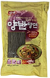 Premium Glass Noodle, Korean Vermicelli, Dangmyun 100% Korean (14.10 Oz) By Yangban