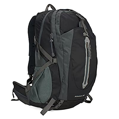 Winkine Waterproof Outdoor Sports Backpack - Camping Shoulder Backpack - Cover for Cycling, Traveling, Hiking, Climbing (Black)