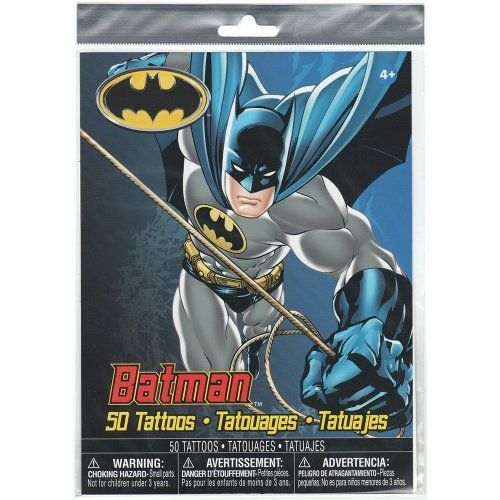 Batman Party Pack, 50 Temporary Tattoos