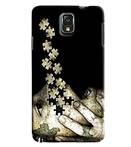 Blue Throat Face Made Of Puzzle Printed Designer Back Cover For Samsung Galaxy Note 3