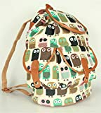 Top Shop Womens Cartoon Floral Preppy Backpack Travel Daypack Tote School Bags Shoulder Orange Satchels