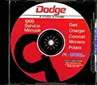 STEP-BY-STEP DODGE FACTORY 1969 REPAIR SHOP & SERVICE MANUAL CD - COVERS 1969 Dodge Dart, Charger, Coronet, Super Bee, R/T, Coronet Deluxe, Coronet 440, and Coronet 500 R/T, Polara, and Monaco series. 69