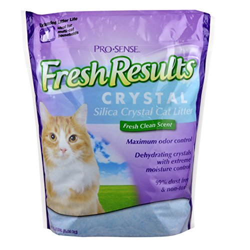 Pro-Sense Fresh Results Crystal Silica Cat Litter, 8-Pound (Just The Crystals compare prices)