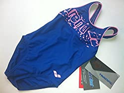 Arena 23361-79 Marionne Swimsuit, Kids 3 Years (Ink Blue/Sweet Pink)