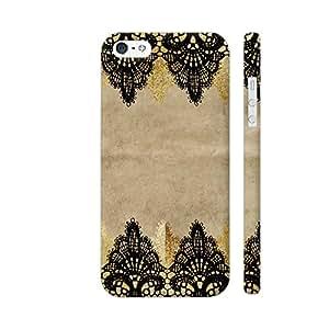 Colorpur Vintage Shabby Chic Black Lace On Old Pack Paper Artwork On Apple iPhone 5 / 5s Cover (Designer Mobile Back Case) | Artist: UtART
