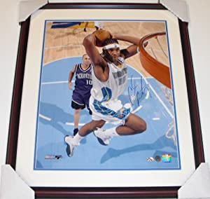 Carmelo Anthony Autographed Hand Signed Denver Nuggets 16x20 Photo - Custom FRAME by Real Deal Memorabilia