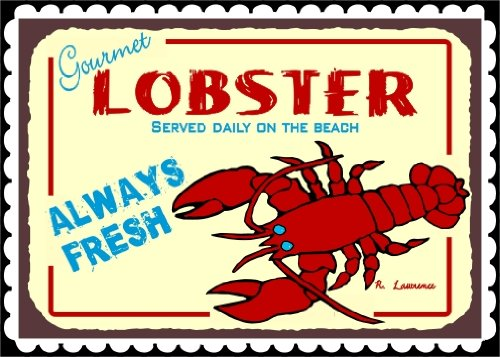 Gourmet Lobster Served Daily on Beach Vintage