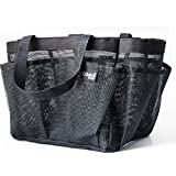 PVC Quick Dry Shower Caddy Bigger Size 2 handles 10 in X 8 in X 8 in Mesh Net 7 Pockets Tote Organizer Glamour Cosmetic Bag for College Dormitory Bathroom Accessories Gym Condo Beach Baby Diaper Bag