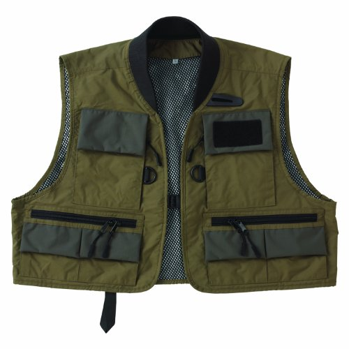Caddis Men's Green Natural Breathable Wader Fishing Vest