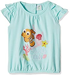 Disney Baby Girls' Blouse Shirt (TC 2408_Green_9-12 Months)