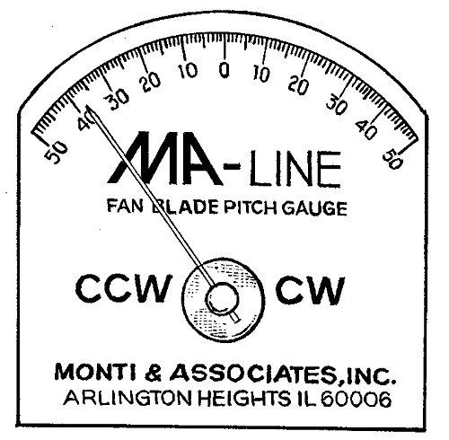 Monti & Associates, Inc. Div. of MA-Line MAPG1 Fan Blade Pitch Gauge (Fan Blade Pitch Gauge compare prices)
