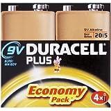 Duracell Plus MN1604 Alkaline 9 V Batteries - 4-Pack