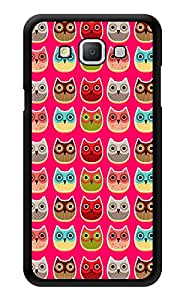 "Humor Gang Happy Owls Printed Designer Mobile Back Cover For ""Samsung Galaxy j7"" (3D, Glossy, Premium Quality Snap On Case)"