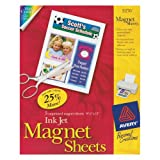 Avery Magnet Sheets, 8.5 x 11 Inches, White, Pack of 5 (03270)