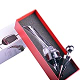 Wine Aerator, MLVOC Wine Pourer Travel Size Wine Decanter Crystal Breather and Bottle Stopper
