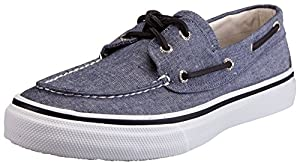 Sperry Top-Sider Men's Bahama Lace-Up Fashion Sneaker (11 D(M) US, Black Chambray)