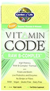 Garden of Life Vitamin Code Raw B-Complex, 60 Capsules