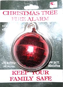 Christmas Tree Fire Detector Ornament Loud Alarm Alerts! - Smoke ...