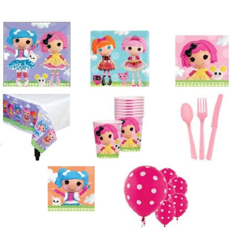 Lalaloopsy Party Suppliesbr/Plates, Napkins, Table Cloth, Balloons, Forks, Cups, and More