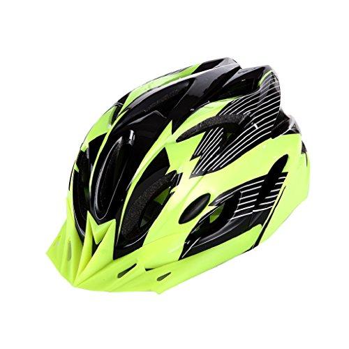 Super Safety Green/Black Bike Helmet Cool Ultralight Adult Road Mountain Bike Cycling Helmet 56-63cm Head Circumference with Detachable Green Visor