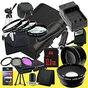 Canon EOS 70D DSLR Camera with 18-55mm STM f/3.5-5.6 Lens LP-E6 Lithium Ion Replacement Battery and External Rapid Charger + 32GB SDHC Class 10 Memory Card + 58mm 3 Piece Filter Kit + Full Size Tripod + 58mm Macro Close Up Kit + 58mm 2x Telephoto Lens + 58mm Wide Angle Lens + Carrying Case + External Flash + Multi Card USB Reader + Memory Card Wallet + Deluxe Starter Kit DavisMAX Accessory Bundle