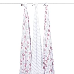 aden + anais Rayon From Bamboo Swaddle Blanket 3 Pack - Flora