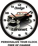 1956 DODGE CORONET WALL CLOCK-FREE USA SHIP