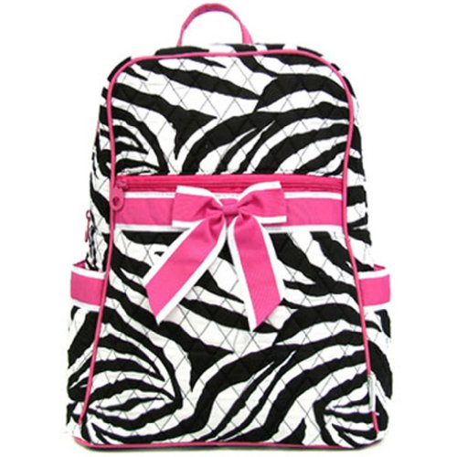 Quilted Zebra Print Backpack Purse