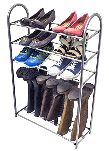 Sorbus® Shoe and Boot Rack Organizer Storage - 3 Levels for Shoes and 1 Level for Boots - Easy to Assemble - No Tools Required (Shoe Boot Rack compare prices)