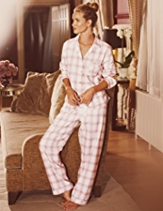 Rosie for Autograph Luxury Woven Checked Revere Pyjamas