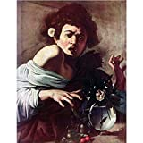 Art Panel - Boy Bitten By A Lizard By Caravaggio