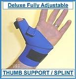 Prolineonline Deluxe Fully Adjustable THUMB SUPPORT / SPLINT, BLUE