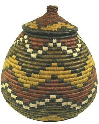 Zulu Llala Palm Ukhamba Basket