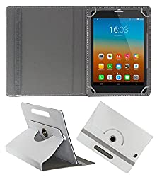 Gadget Decor (TM) PU Leather Rotating 360° Flip Case Cover With Stand For Swipe Ace Srtike - White