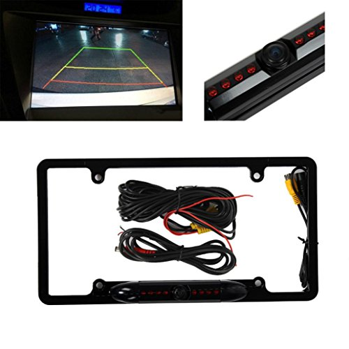 Backup Camera,Inkach New Licence Plate Waterproof radar reversing camera (Flash Back For Rear Bumper compare prices)