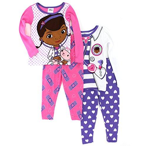 Doc McStuffins Toddler 4 pc Cotton Pajamas (2T) (Doc Mcstuffins Clothes compare prices)
