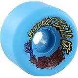 Santa Cruz Skateboards Slimeballs Vomits Neon Blue Skateboard Wheels - 60mm 97a (Set of 4) (Color: Neon Blue)