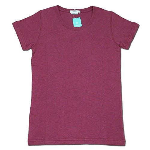 (コバノ) cobano ROCK TEE ヘンプコットンレディースTシャツ D.RED