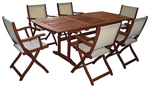 Tavolo Rettangolare Estensibile Tavoli Arredo Giardino Arredamento in Legno Massello 155/200x107xH73