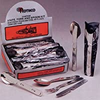 CHOW KIT 3 PIECE STAINLESS KIT- FORK, SPOON & KNIFE